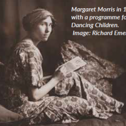 Margaret Morris in 1912, with a programme for her Dancing Children.